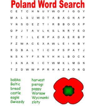 Poland Word Search Puzzles