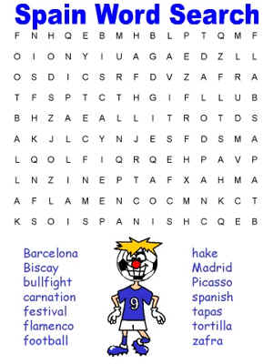 Persnickety image regarding printable spanish word searches