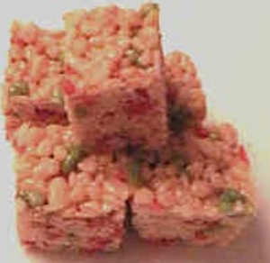 Holiday Rice Krispie Cake
