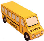three dimensional bus paper craft