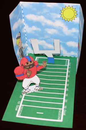 Football Field Three Dimensional Paper Craft
