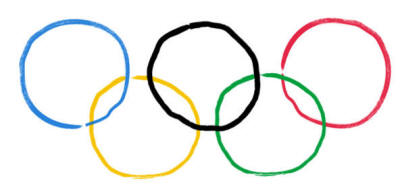 Paper Cup Olympic Rings Craft