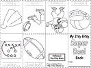 superbowl printable itsy bitsy book - Dltk Printable Books