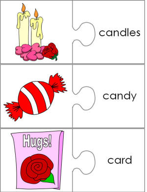 """... read"""" jigsaw puzzle piece word matching templates for young children"""