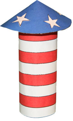 Fourth Of July Rocket Toilet Paper Roll Craft