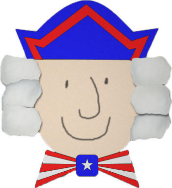 dltks crafts for kids george washington cotton ball and paper craft - Dtlk Kids Crafts