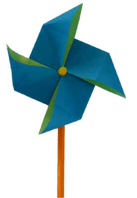 origami windmill - Dltk Crafts For Kids