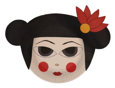 Geisha Paper Plate Craft  sc 1 st  DLTK-Kids : paper plate puppets - pezcame.com