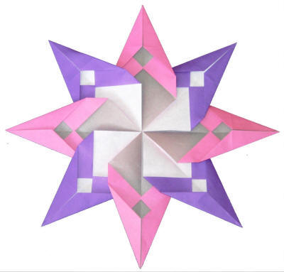 DLTKs Crafts For Kids Origami Petals Eight Point Stars