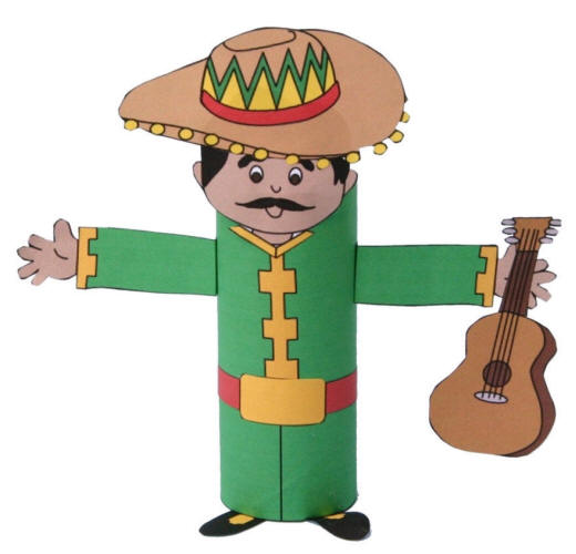 Mariachi Toilet Paper Roll Craft