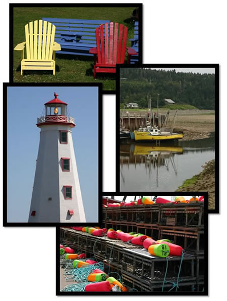 Maritimes travel collage.