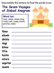 The Seven Voyages of Sinbad anagram puzzle